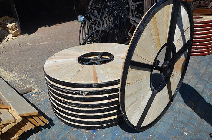 出口电缆轴盘